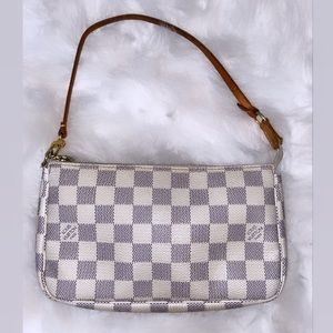 💯 Authentic Louis Vuitton Damier Azur Pochette